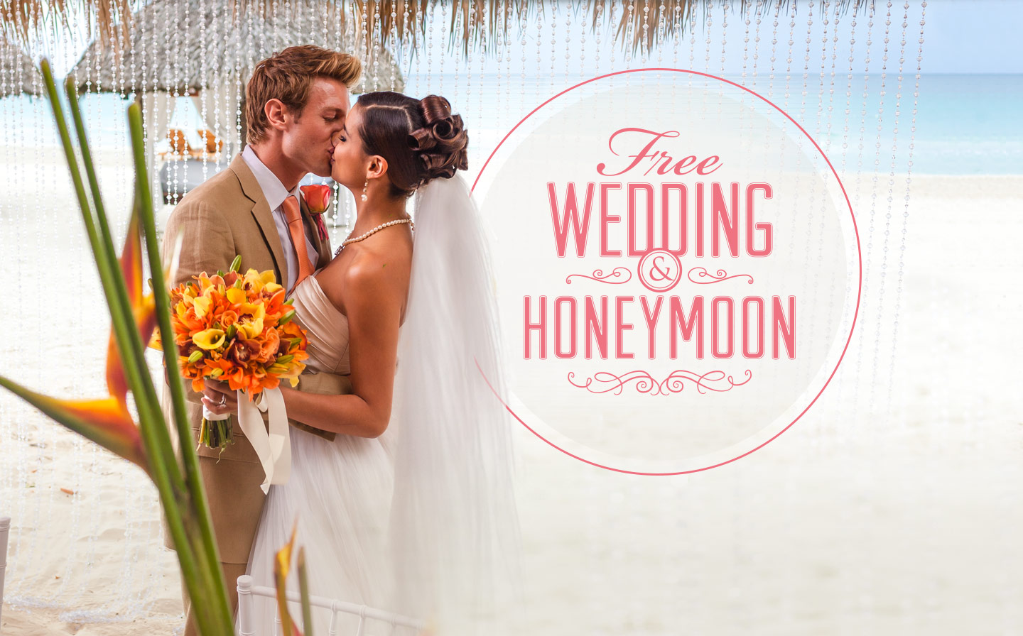 Free wedding honeymoon deal from beaches resorts beaches set along the best beaches in the caribbean with every luxury included your dream wedding and the perfect honeymoon come together for an exclusive beaches junglespirit Images