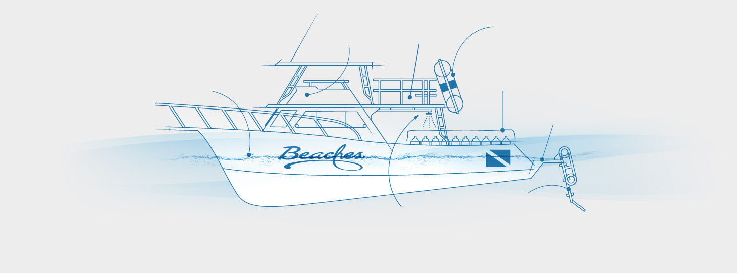 Dive boat detail