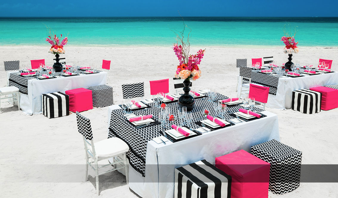 Vibrant Wedding Beach