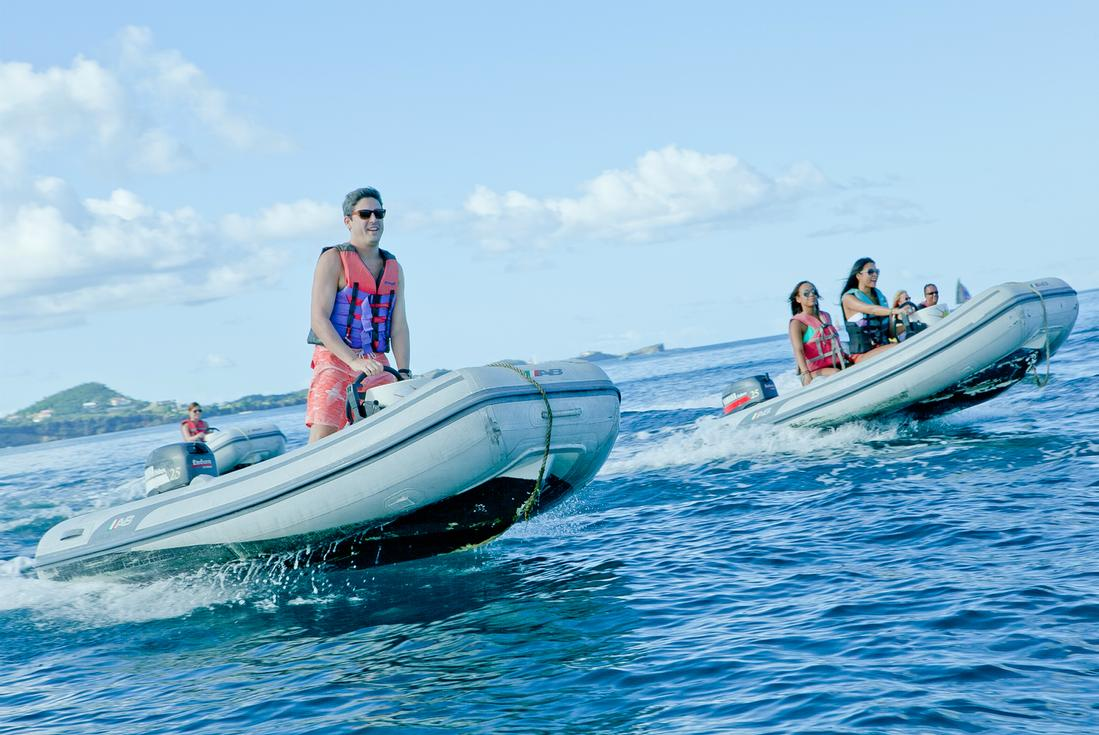 powerboat and snorkel grenada