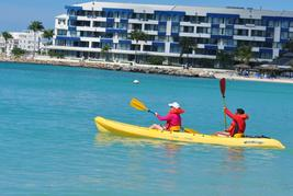 kayaking in Simpson Bay
