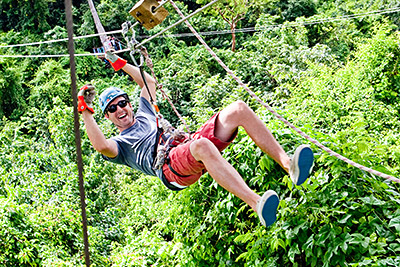 ziplining in antigua