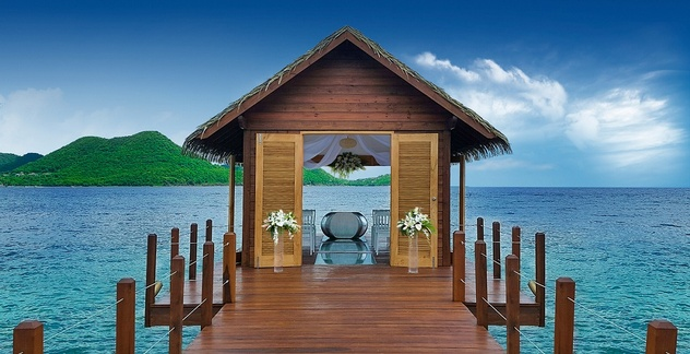 S Can Now Say I Do At The First Overwater Chapel In Caribbean Sandals Grande St Lucian We Re Excited To Unveil New Serenity