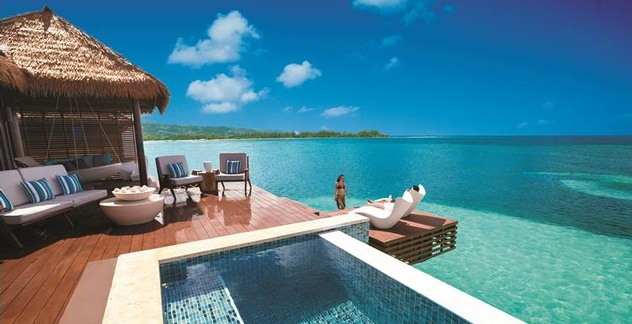 Brides Features Sandals Royal Caribbean S Over The Water