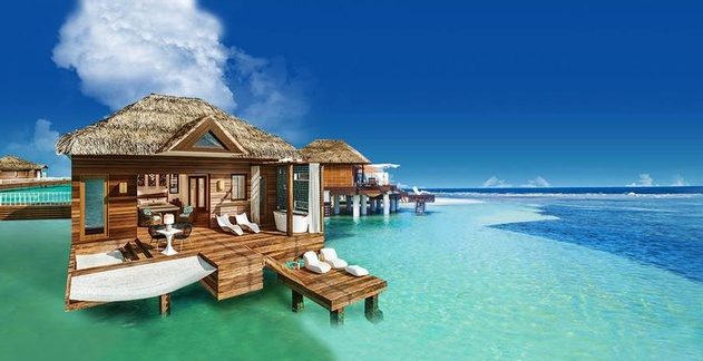 Perfect After The Huge Success Of Debuting The Caribbeanu0027s First Ever  Over The Water Villas In Jamaica And Then 12 Additional Over The Water  Bungalows At Sandals ...