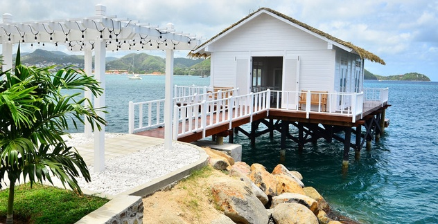 In Addition To The Debut Of Sandals Grande St Lucian S Nine All New Bungalows Is Revamped Over Water Serenity Chapel That Officially Open And
