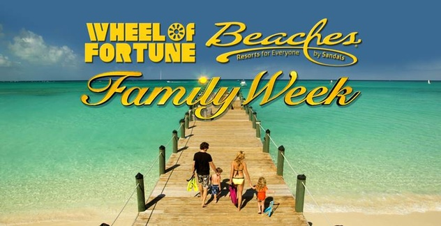 Tune in to beaches resorts family week on wheel of fortune for Best beach vacations in march