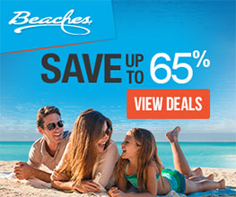 Beaches save up to 65%