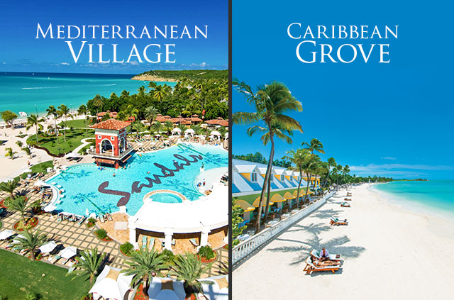 Mediterranean Village and Caribbean Grove