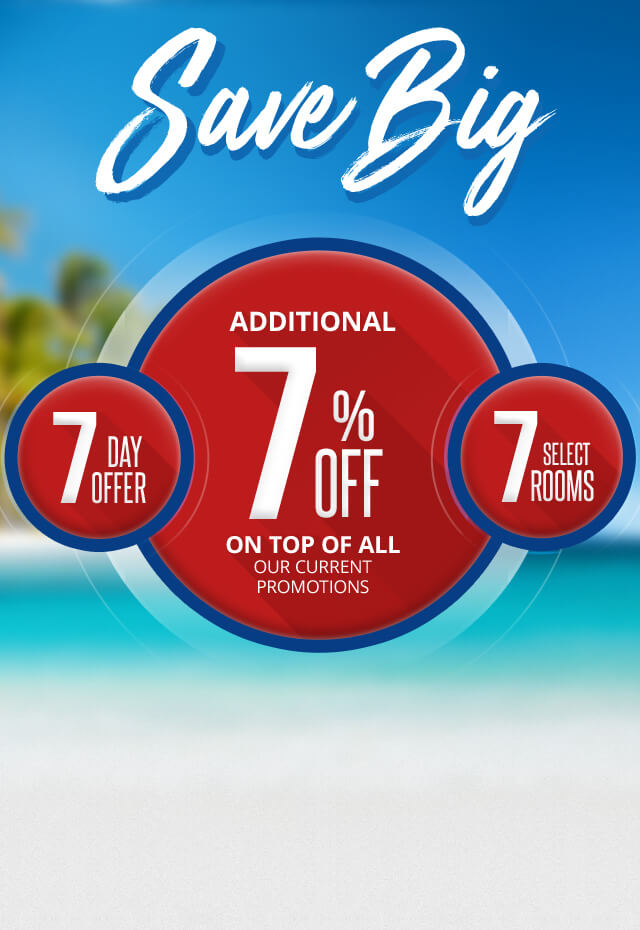 additional 7% off on top of all our current promotions hurry book by april 6 2018 Save Big on select suites at sandals resorts limited time promotion