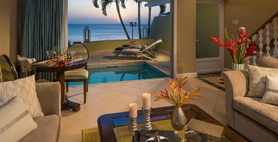 """ace73d6b55ea7 We always enjoy Sandals La Toc for its romantic atmosphere and recommend it  for honeymooners with the budget for the resort """"bluff"""" section."""