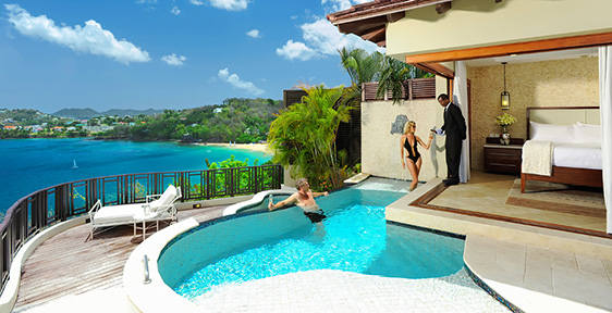 b4488a72afe Sunset Oceanview Bluff Millionaire Butler Villa with Private Pool Sanctuary  - SV