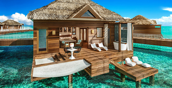 Accommodations At Sandals Royal Caribbean Overwater Bungalows