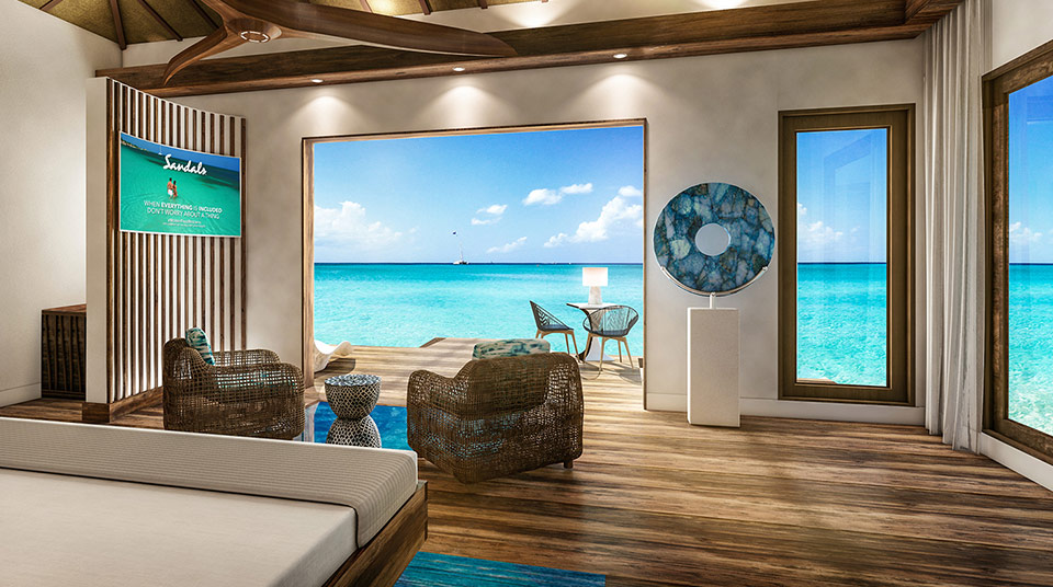 Ocean Bungalows Caribbean Part - 19: With See-through Glass Floors, You Can Experience The Ocean From The  Comfort Of Your Luxurious Villa. Lit Water Ensures You Can Enjoy The Sea  Anytime Day Or ...
