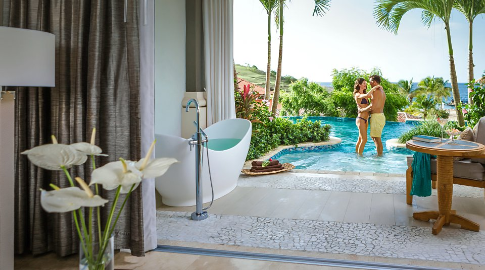 Tranquility Soaking Tubs for Two at Sandals Resorts