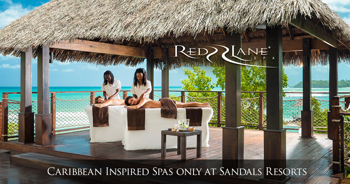 At Our ResortsSandals Lane Caribbean Spa Luxury Red pMUVqSz