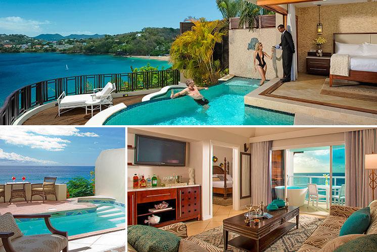 Sunset Ocean Bluff Suites At Sandals Regency La Toc Resort