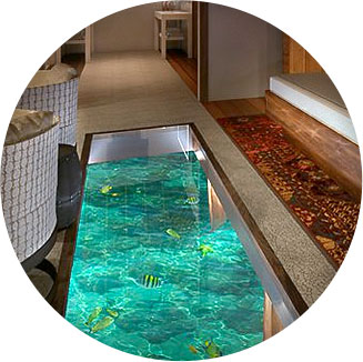 Glass Floor With Sea Through Glass Floors, You Can Experience The Ocean  From The Comfort Of Your Luxurious Villa And Lit Water Ensures You Can  Enjoy The Sea ...