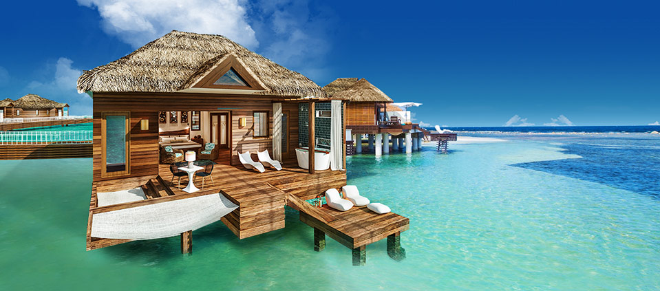 bungalows on the water