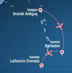 Caribbean Honeymoon Beach Hopping Sandals Resorts