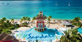 The Main Pool Offers Sandals Signature Swim Up Bar Just Steps From Beach
