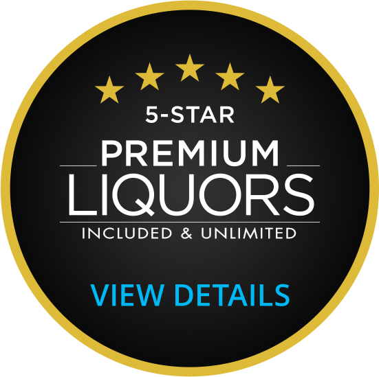 premium liquors included and unlimited