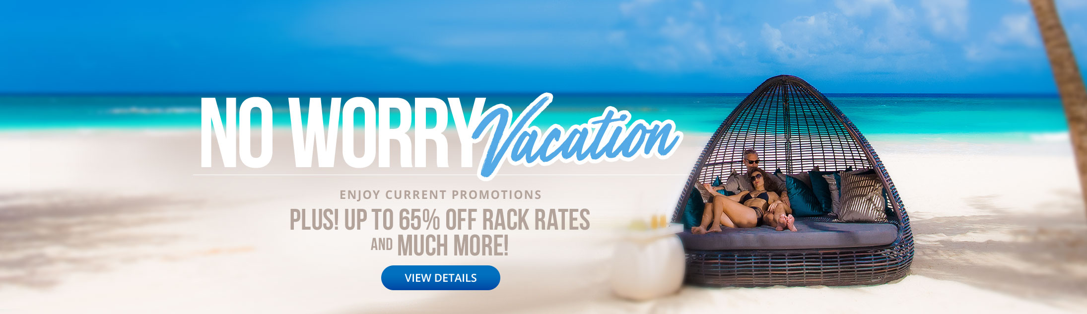 No Worry Vacation - Book any qualifying Sandals vacation of 6-nights or longer and receive a special package offer for up to two (2) persons.