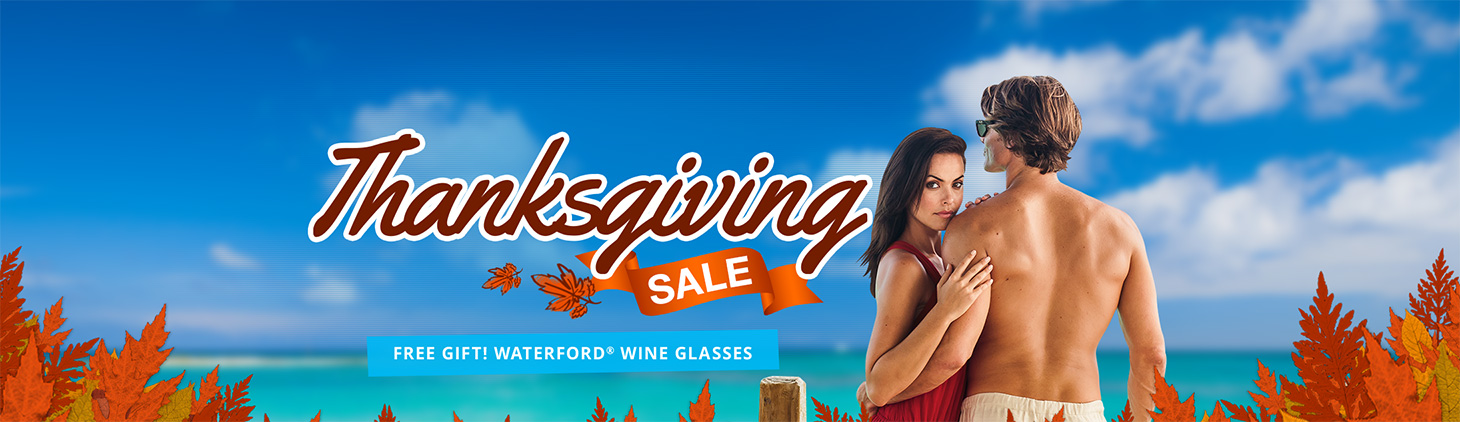 Thanksgiving Sale - Enjoy Current Promotions: Get Up To $1000 Instant Booking Credit, Up To 65% Off Rack Rates, And Much More!