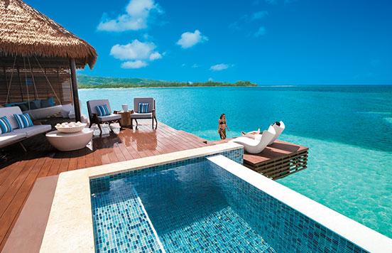Over Water Villa At Sandals Royal Caribbean