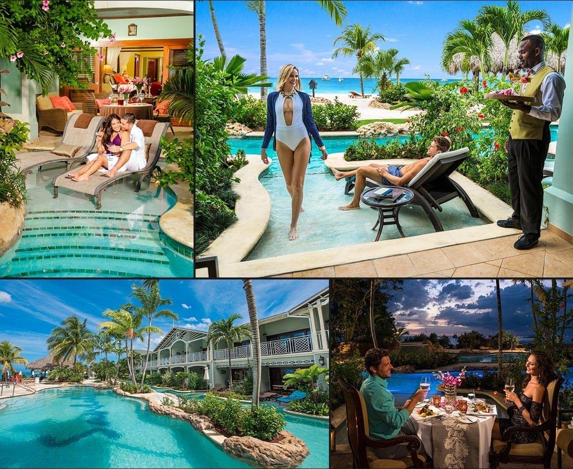 Swim Up Lagoon Suites at Sandals Negril in Jamaica | Sandals
