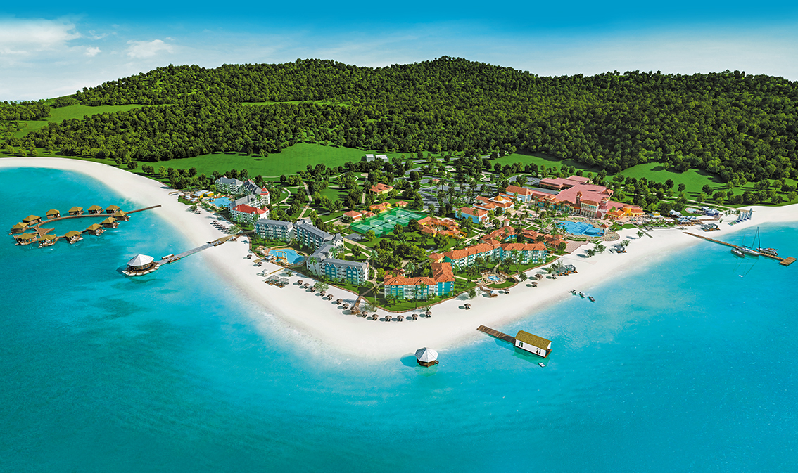 Maps Sandals South Coast Resort In